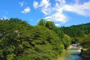 櫛田川(三重県松阪市飯高町波瀬の道の駅近く)