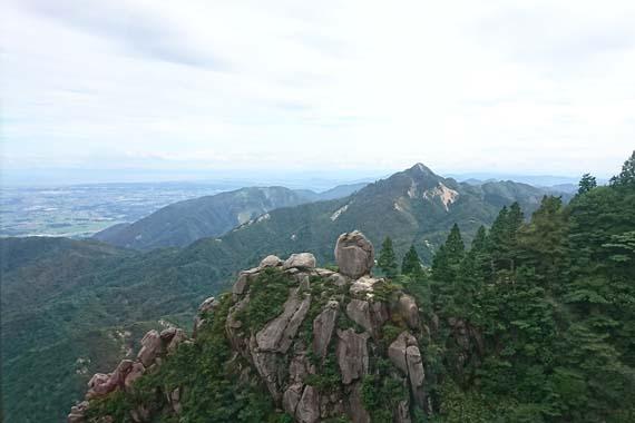 御在所岳ロープウェイからの眺め