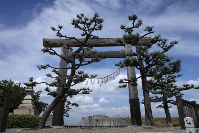 七里の渡し跡(三重県桑名市)