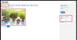 メディアライブラリの画像 縦横比を指定してトリミングする
